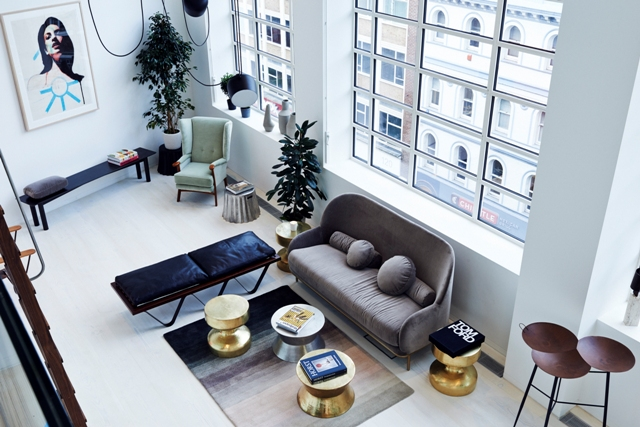 Living room arial